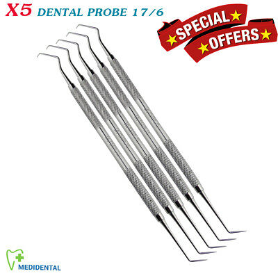 X5 Dental Endodontic Diagnostic Instruments Probe 17/6 Surgical Laboratory Tools