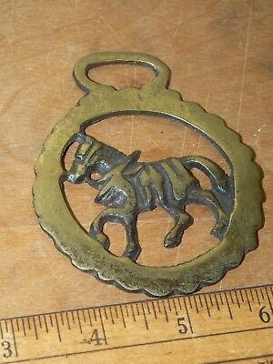 Vintage Brass Horse Saddle Harness Medallion Ornament England