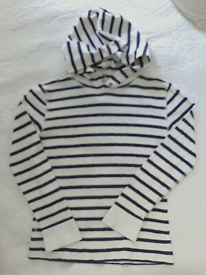 CREWCUTS Navy And White Stripe Hoodie, Boys 8