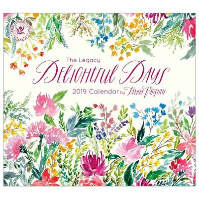 2019 Legacy Calendar DELIGHTFUL DAYS New Calender Fits Wall Frame