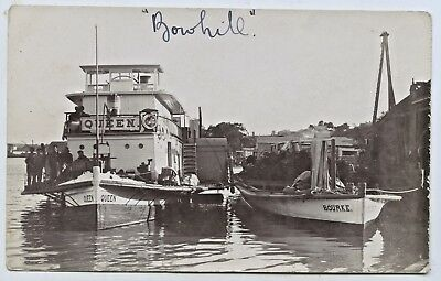1909 Rp Pu Postcard Ss Queen & Barge Bourke Bowhill River Murray Sth Aust. R22