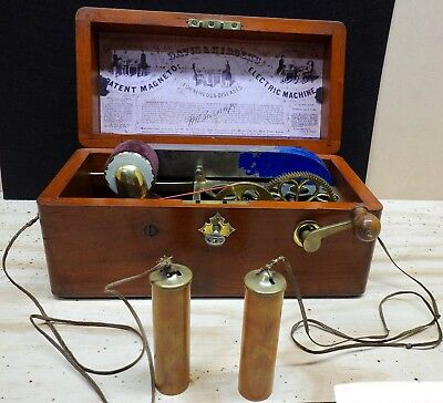 Antique Magneto Electric Machine For Nervous Diseases.