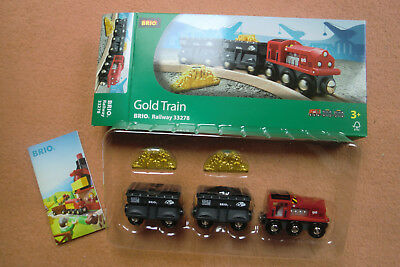 BRIO Gold Train Railway 33278 Goldtransport - NEU