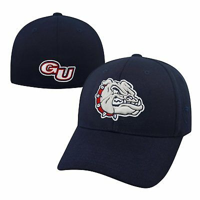 9f9c69f732a Gonzaga Bulldogs Official NCAA One Fit Premium Cuff Hat Cap by Top of the  World