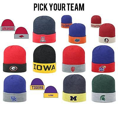 detailed look 7fd0e 6e300 Official NCAA Cuffed Knit Delegate Beanie Top of the World