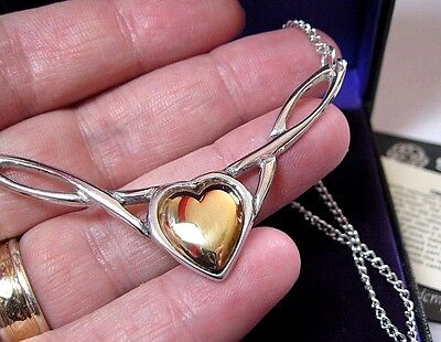 Stunning St Justin Jewellery Celtic Copper Heart Twist Necklace New Gift