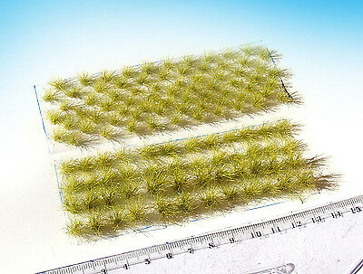120 Static grass tufts Summer Green mixed sizes. HO O scale model railway 1:87