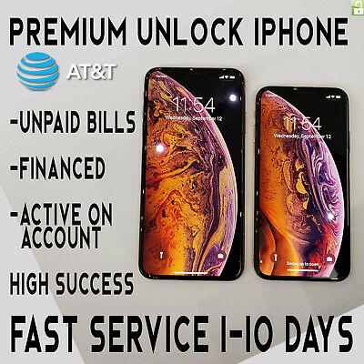 At&t Premium Factory Unlock Code Service For Att Iphone Xs Xr X 8 8+ 7 7+ 6 6+ 5