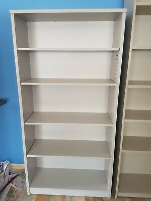 Office Bookcase Grey 890w x1.8h x 345d Good condition.