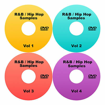 Hip Hop / R&B Samples, loops + patches - 18+GB on 4 DVDS