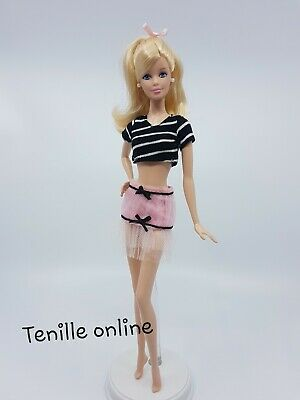 New Barbie clothes outfit princess wedding gown dress blue lace and shoes x1