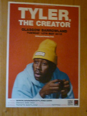 Tyler The Creator - Glasgow may 2015 live music show tour concert gig poster