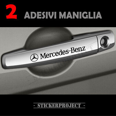2 Adesivi Mercedes Benz MANIGLIA stickers door handle DECAL