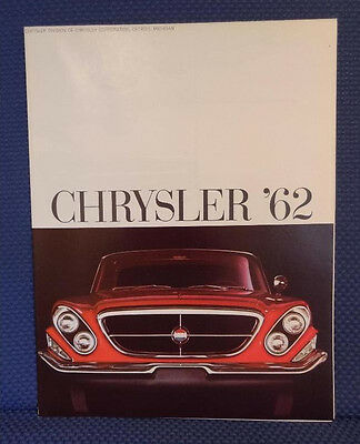 1962 CHRYSLER Automobile Color Sale Brochure - MINT New Old Stock
