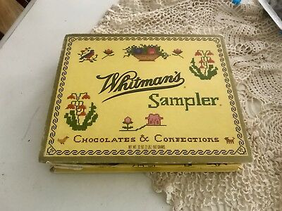 Antique Whitmans Chocolate & Confections Box Sampler ~ Vintage~Advertising