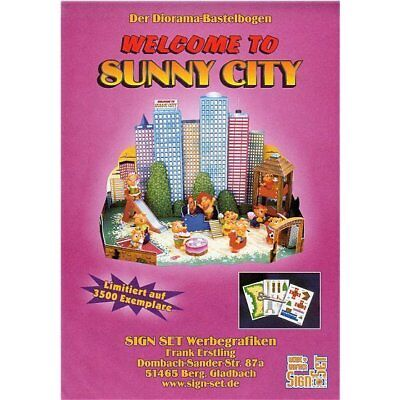 """Bastelbogen SignSet """"Welcome to Sunny City 2000"""""""