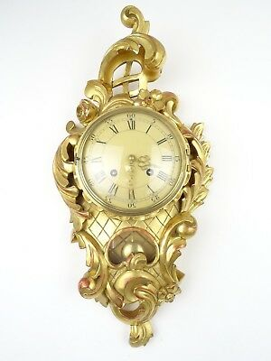 Swedish Vintage REPAIR Westerstrand Wall Clock Gustavian Gilt (Junghans era)