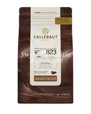 Callebaut Milk Chocolate Belgian Couverture Callets 823 1kg - Crafted in Belgium