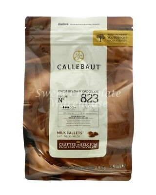 Callebaut Milk Callets 2.5kg Recipe No 823