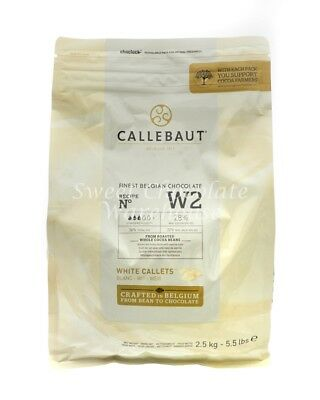 Callebaut White Callets 2.5 kg Recipe No W2