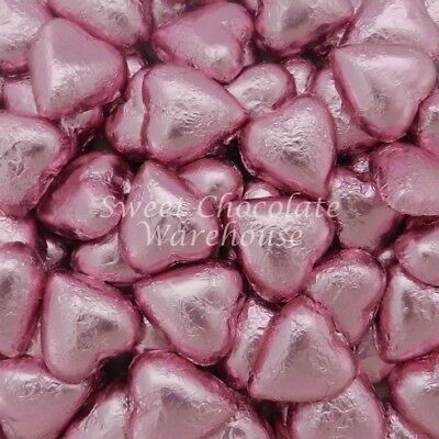 Milk Chocolate Hearts - Light Pink 5kg