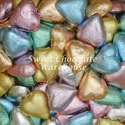 Milk Chocolate Hearts - Soft Pastel Mix 5kg