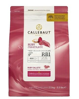 Callebaut Ruby Chocolate 2.5kg Recipe No RB1
