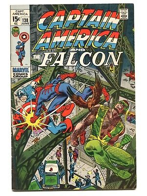 1971 Marvel Captain America #138 Spider-Man Fine D5