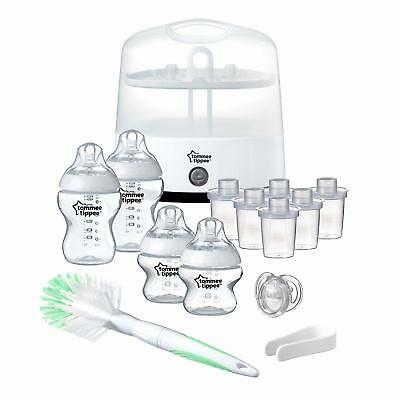 Electric Steriliser Starter Set Baby Bottles Tommee Tippee Closer to Nature New