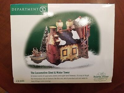 NOS Department 56 Dickens' Village The Locomotive Shed & Water Tower #56.58465