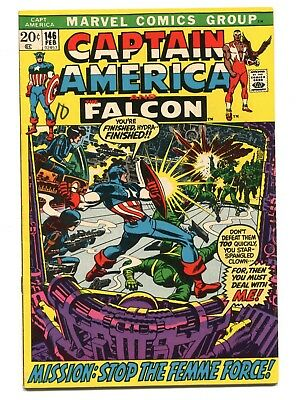 1972 Marvel Captain America #146 Falcon Fine/very Fine D5