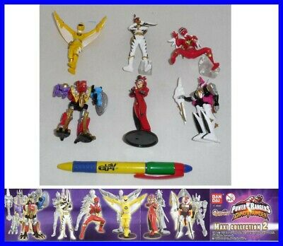 SET 6 Figure 10cm POWER RANGERS DINO THUNDER Part 2 Bandai GASHAPON Sentai RARE