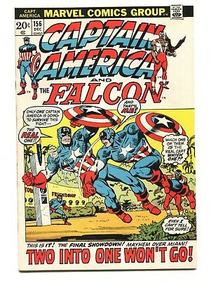 1972 Marvel Captain America #156 Falcon Fine D5