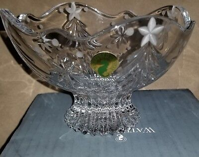 """Waterford Crystal Christmas Night 6"""" Wedge Cut & Scalloped Edge Footed Bowl"""