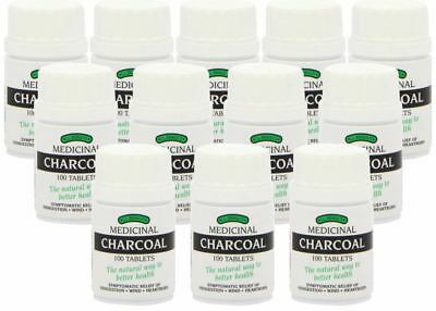Bragg Charcoal 100 Tablets Braggs Lactose Free New Box - 12 Pack