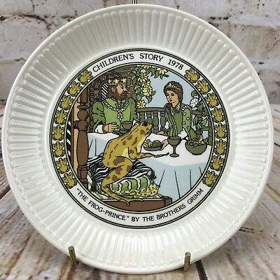 "Wedgwood 1978 Children's Story 6"" Plate The Frog Prince The Brother Grimm"