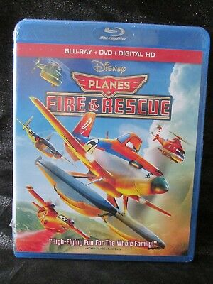 Planes Fire & Rescue Disney Blu-ray + DVD + Digital HD Movie New Sealed