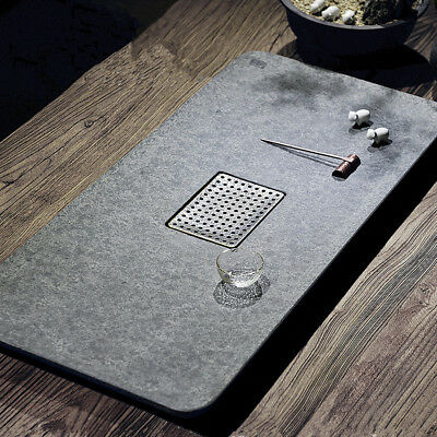 Private order picture from buyer black stone tea tray water draining tea table