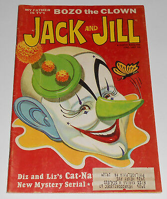 Vintage Jack and Jill Magazine June 1967 Bozo The Clown Circus Mystery Children