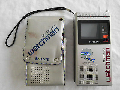 Vintage Sony Watchman FD-30A Seattle Seahawks Edition AM/FM Stereo Radio