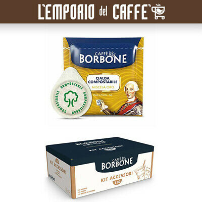 Caffè Borbone Miscela Oro Gold 150 Cialde carta Ese 44mm + kit accessori 150 pz
