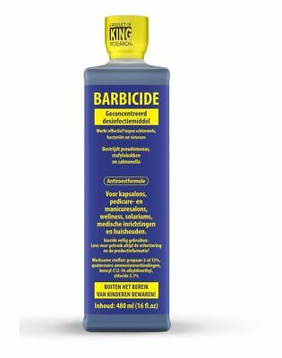 Barbicide Disinfectant Concentrate Solution Anti-rust Formula Germicidal 16 Oz