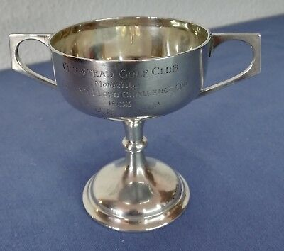 Sterling Silber 925 Trophy Chipstead Golf Club 1933 (E. Lloyd Challenge Cup)