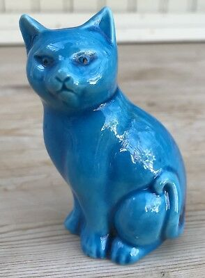 Turquoise Chinese Ceramic Cat