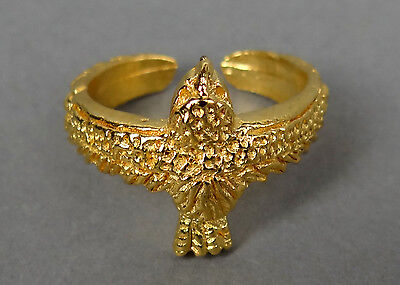 22kt GP Egyptian Horus Hawk Ring