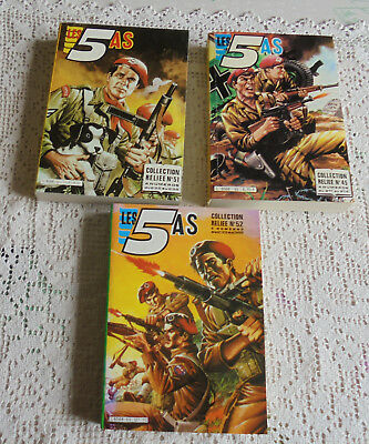 3 Reliures Neuves : Les 5 As N°45 - 51 - 52  Imperia 1984/1986