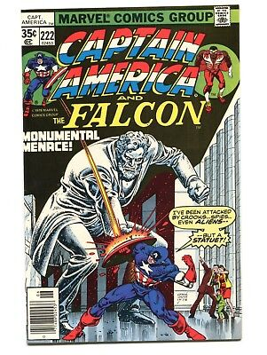 1978 Marvel Captain America #222 Last Falcon Abraham Lincoln Near Mint 9.4 D5