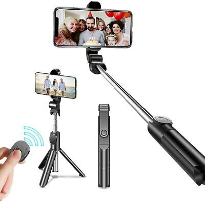 3in1 Extendable Bluetooth Selfie Stick and Tripod With Removable Remote Shutter