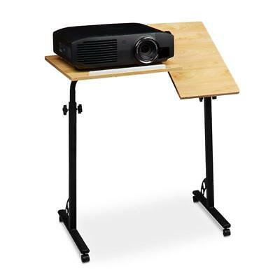 Large Adjustable Height Podium Lectern Projector Table Mobile Wheeled Stand NEW