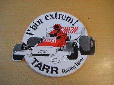 Alter Aufkleber - Sticker  Niki Lauda TARR Racing Team ca.12x10cm